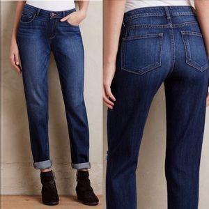 PAIGE Jimmy Jimmy Skinny Boyfriend Jeans Mid Tone